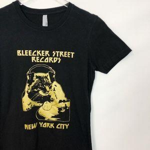 Tops - Bleecker Street Records Black Gold Graphic Tee S